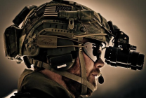 Closeup of Soliders with Night Vision Tool