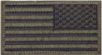 American Flag Subdued -Reversed